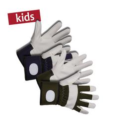 KIXX Kinder-Baumwollhandschuhe »Kinder«, blau/weiss