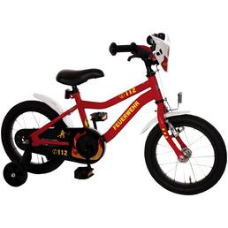 Kinderfahrrad »Feuerwehr«, 1 Gang, Kuma-Type Rahmen, Rot-Weiß-Neongelb