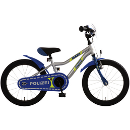 Kinderfahrrad »Polizei «, 1 Gang, Kuma-Type Rahmen, Blau-Silber-Neongelb