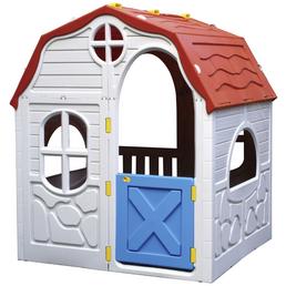 RAM Kinderspielhaus, BxHxT: 98 x 115 x 91 cm, Kunststoff, weiß/rot