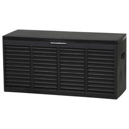 Kissenbox »Promo«, BxTxH: 118,5 x 45,5 x 57,7 cm, anthrazit/schwarz