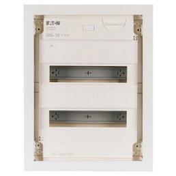 EATON Kleinverteiler, 2-reihig, 24 Module, 10 x 36 x 46,5 cm, Kunststoff, Weiß