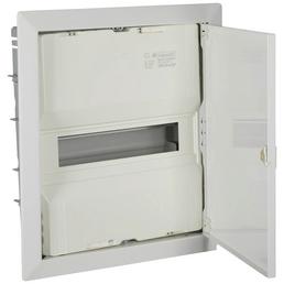 f-tronic ® Kleinverteiler, Weiß, 1-reihig, 36,5 x 40 x 8,8 cm