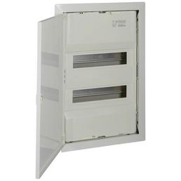 f-tronic ® Kleinverteiler, Weiß, 2-reihig, 36,5 x 52,5 x 8,8 cm