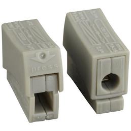 WAGO Klemme, Kunststoff, Grau, Leiter mit einem Querschnitt von 1,0 – 2,5 mm²