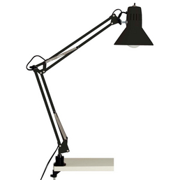 BRILLIANT Klemmleuchte »Hobby« schwarz mit 40 W, Schirm-Ø x H: 17 x 70 cm, E27 ohne Leuchtmittel