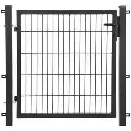 FLORAWORLD Komplett-Einzeltor »comfort«, Torbreite 100 cm, Torhöhe 120 cm, Stahl, anthrazit