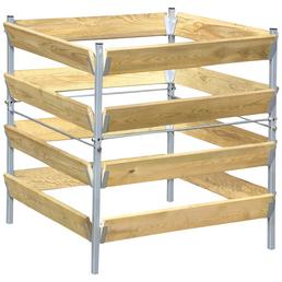 BELLISSA Komposter, BxHxL: 90 x 90 x 90 cm, Stahl/Holz