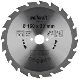 WOLFCRAFT Kreissägeblatt »Grün«, Ø 160 mm, 20 Zähne, Hartmetall