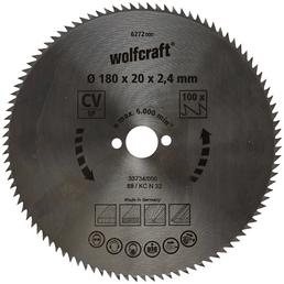WOLFCRAFT Kreissägeblatt, Ø 180 mm, 100 Zähne