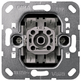 GIRA Kreuzschalter-Einsatz, Kunststoff | Metall, Silber