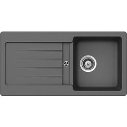 SCHOCK Küchenspüle, Cristalite Typos D-100S Croma, Granit | Komposit | Quarz, 86 x 43,5