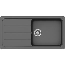 SCHOCK Küchenspüle, Formhaus D-100L Croma, Granit | Komposit | Quarz, 100 x 50