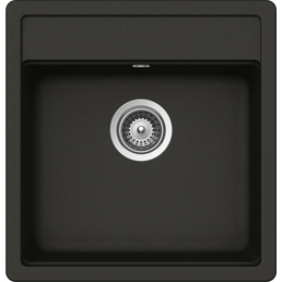 SCHOCK Küchenspüle, Nemo N-100S Asphalt, Granit | Komposit | Quarz, 49 x 51
