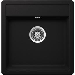 SCHOCK Küchenspüle, Nemo N-100S Nero, Granit | Komposit | Quarz, 49 x 51