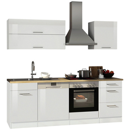 HELD MÖBEL Küchenzeile »Mailand«, mit E-Geräten, Gesamtbreite: 220 cm