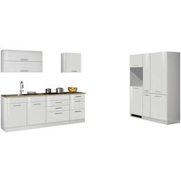 HELD MÖBEL Küchenzeile »Mailand«, ohne E-Geräte, Gesamtbreite: 380cm