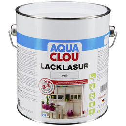 CLOU Lack-Lasur »AQUA«, für innen, 2,5 l, weiß, seidenmatt