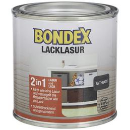 BONDEX Lack-Lasur, für innen, 0,0,375 l, anthrazit, seidenglänzend
