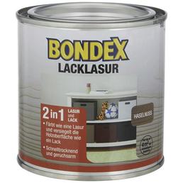 BONDEX Lack-Lasur, für innen, 0,0,375 l, Haselnuss, seidenglänzend
