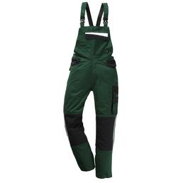 SAFETY AND MORE Latzhose EXTREME Polyester/Baumwolle grün/schwarz Gr. S