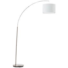BRILLIANT LED-Bogenstandleuchte »Clarie« weiß/eisen, H: 180 cm, E27 ohne Leuchtmittel