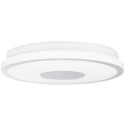 AEG LED-Deckenleuchte weiss/chromfarben 1-flammig, dimmbar, inkl. Leuchtmittel