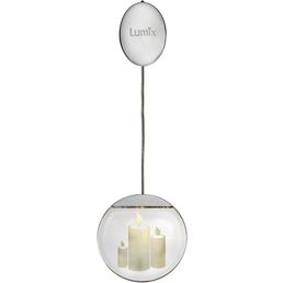 Krinner LED-Fensterbild »Lumix Deco Lights«, Kerzen, rund, ø: 10 cm, batterie