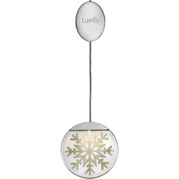 Krinner LED-Fensterbild »Lumix Deco Lights«, Schneekristall, rund, ø: 10 cm, batterie