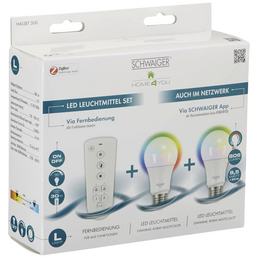 SCHWAIGER LED-Leuchtmittel »HOME4YOU«, 9,5 W, E27, 2700 – 6500 K, 806 lm