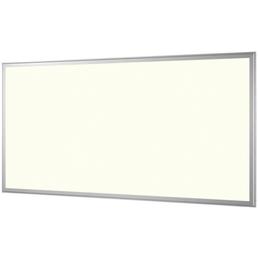 NÄVE LED Panel stahlfarben/weiss 1-flammig, inkl. Leuchtmittel in warmweiß