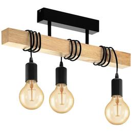 EGLO LED-Pendelleuchte »TOWNSHEND«, Stahl/Holz