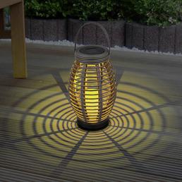 LED-Solarleuchte, oval, taupe