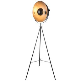 GLOBO LIGHTING LED-Stehleuchte »SANDRA« schwarz/silbermetallic, Schirm-Ø x H: 40 x 160 cm, E27 ohne Leuchtmittel
