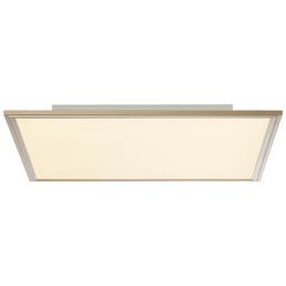 BRILLIANT LED-Wand-/Deckenleuchte nickelfarben 1-flammig, dimmbar, inkl. Leuchtmittel in RGB (mehrfarbig)