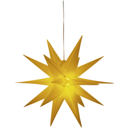 CASAYA Leuchtstern »3D«, gelb, ø: 57 cm, Netzbetrieb