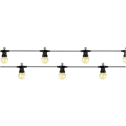 LUMINEO Lichterkette, mehrfarbig, Netzbetrieb, Kabellänge: 9,5 m