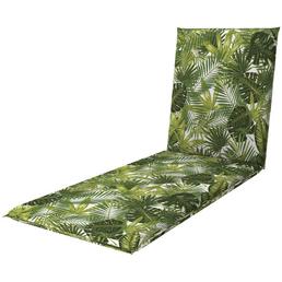 DOPPLER Liegenauflage »Living«, Blätter, grün, 195 cm x 60 cm