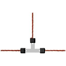 Litzenverbinder, für Weidezaun, Kunststoff / Metall