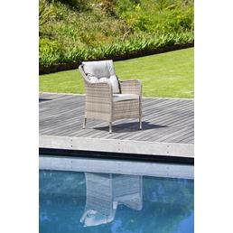 CASAYA Loungesessel »Nalepa«, BxTxH: 70  x 70  x 57  cm, Aluminium/ Kunststoffgeflecht/ Polyester