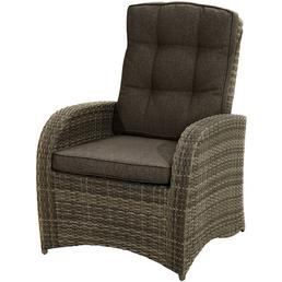 ploß® Loungesessel »Rabida Comfort«, B x T x H: 73  x 85  x 112  cm, Polyester/ Aluminium/ Polyrattan