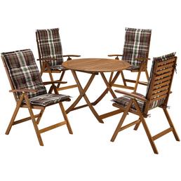 MERXX Loungeset »Borkum«, 4 Sitzplätze, inkl. Auflagen, Hartholz