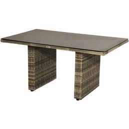 ploß® Loungetisch »Sydney«, mit Sicherheitsglas-Tischplatte, BxTxH: 140 x 85 x 68 cm