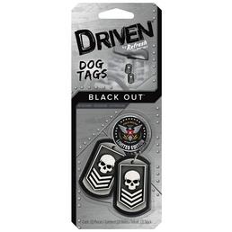 Driven® Lufterfrischer »Dog Tags Black Out«, schwarz