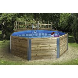 WEKA Massivholzpool-Set Massivholzpool »Swimmingpool«, achteckig