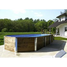 WEKA Massivholzpool-Set Massivholzpool »Swimmingpool«, rechteckig, BxLxH: 376 x 850 x 116 cm
