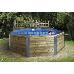 WEKA Massivholzpool-Set »Swimmingpool«,  achteckig