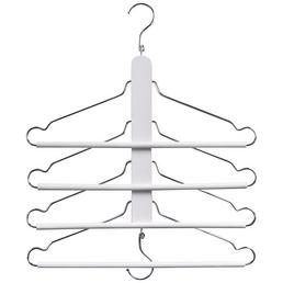 ZELLER Mehrfach-Kleiderbügel Buche/Metall weiß 40 x 41 cm