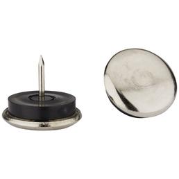 HETTICH Metallgleiter, Kunststoff | Stahl, Silber, Ø 28 x 26 mm