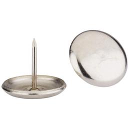HETTICH Metallgleiter, rund, mit Nagel, silberfarben, Ø 25 x 23 mm